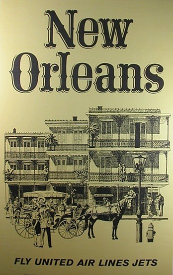United Air New Orleans Poster