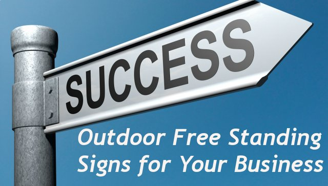 Outdoor free standing signs auto decals printing